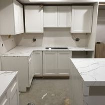 LSC Marble & Granite White Marble Kitchen
